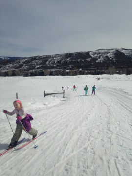 Fun in the slushy snow :) Welcome March!