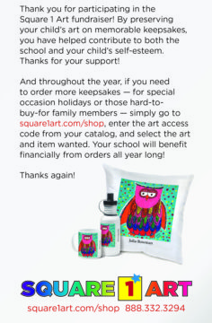 Thanks for participating in Square 1 Art!