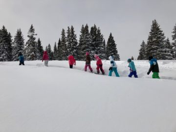 Snowshoeing, Arcade Building, Valentine's Day, the 100th Day of School and Big Event Choice!