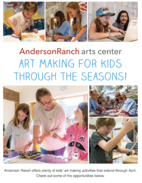October Family Art opportunities at Anderson Ranch