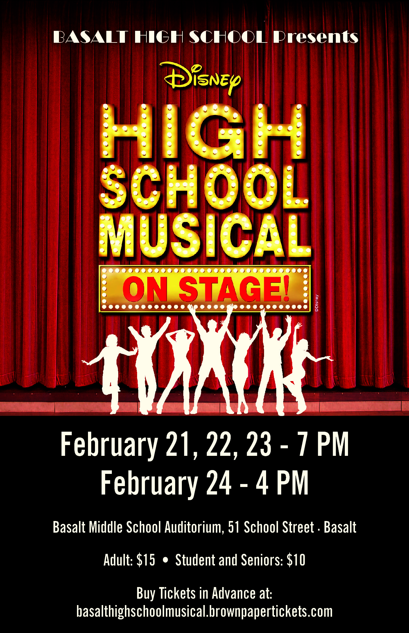 Basalt High School Musical Poster
