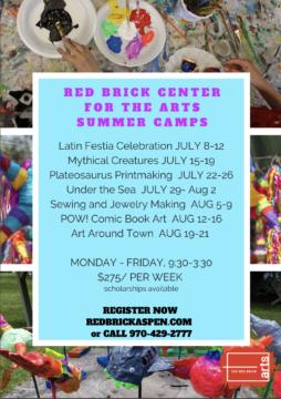 Summer Art Camp Opportunites